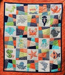 Animal Quilt Patterns Interesting OCEAN FRIENDS PDF Applique Quilt Pattern Quilt Baby Applique
