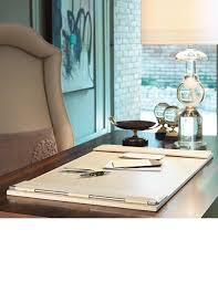 desk accessories luxury designer executive ivory leather desk pad of instyle decor beverly hills interiors office studio study more