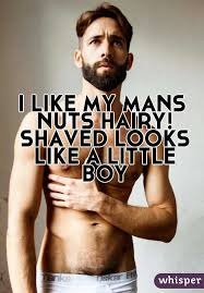 Men with hairy nuts