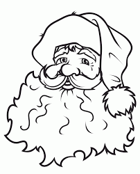 Face Of Santa Claus Coloring Pages Free   Christmas Coloring Pages ...
