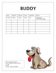 Walking Logs Free Dog Walking Log Template Samples Printable Ready To Use Dog