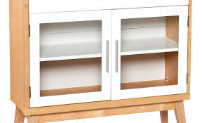 Espresso Grande Locking Media Storage Cabinet With Shaker Doors ...