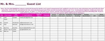 Wedding Guest List Template Excel Download 37 Free Beautiful Wedding Guest List Itinerary Templates