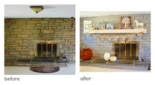 painting a fireplace whiteDIY Trick Painting Brick and Stone  My Colortopia