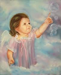 angel painting angel baby by joni mcpherson