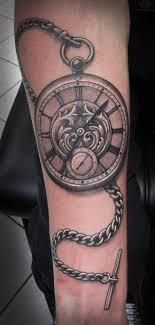 фото тату часы с цепочкой татуировки и эскизы часы компасы