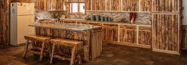 complete log kitchens available