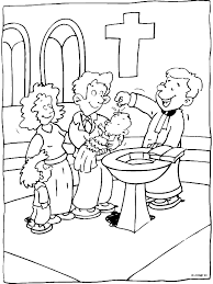 Kleurplaat De Doop Kleurplatennl Religia Bijbel Kleurplaten
