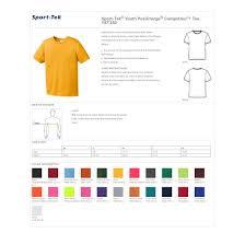 Sport Tek Yst350 Boys Posicharge Competitor T Shirt Gold Medium