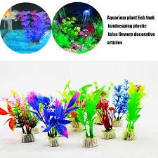 artificial plastic water plants aquarium fish tank landscape diy decor supplies