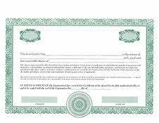 Shareholder Certificate Template Share Certificates