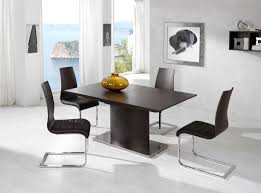 black and white dining table set: awesome glass wall also modern black and white dining table set also sofa bed on cream ceramic floor