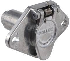 pollak heavy duty, 4 pole, round pin trailer wiring socket metal Pollak Hitch Wiring Diagram Pollak Hitch Wiring Diagram #76 Pollak Trailer Wiring Diagram