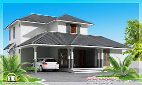 1800 square feet modern sloping roof house