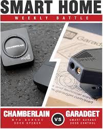 garadget smart garage door controller vs chamberlain myq garage controls your garage door opener