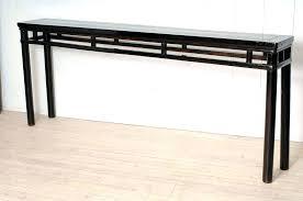 very narrow hall table. Narrow Console Table Tables Very Black Iron Frame Hall Euro Regarding .