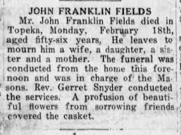 John Franklin Fields Obit - Newspapers.com