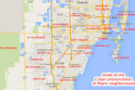 Neighborhood Enhancement Team map of the neighborhoods of the City of Miami.