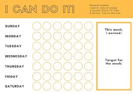 White Incentive Chart Yellow And White Circle Patterned Incentive Reward Chart
