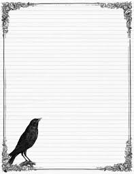 Lined Stationary Template Sweetly Scrapped Free Stationary with Crows and Roses Variety of 1