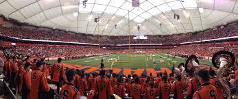 Carrier Dome Syracuse Orange Stadium Journey
