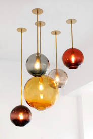 best pendant lighting. Top 53 Familiar Blown Glass Pendant Lighting Ideas For Modern And Sleek Glow Colored Lights Best View In Gallery Handmade Lamp Float Collection By Sklo F