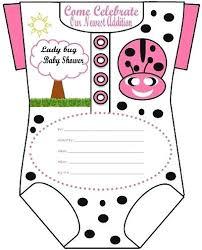 Ladybug Baby Shower Invitations And Baby Shower Invitation Layout