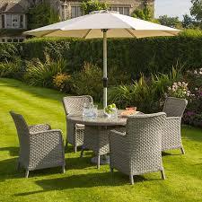 garden furniture. Bramblecrest Geneva Round Table 4 Seater Set Garden Furniture