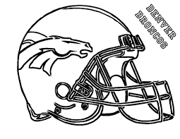 Wonderful Broncos Coloring Pages Colouring To Beatiful Nfl Players