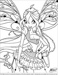 Winx Club Coloring Page Kleurplaten Kleurplaten En Illustraties