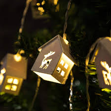 Fairy Lights Sock Kit Christmas Lights Qualife Fairy String Lights Battery Operated 5 Ft 10 Led Deer Carving Wooden House Decorations For Christmas Trees Home Office