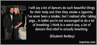 I will say a lot of dancers do such beautiful things for their ... via Relatably.com