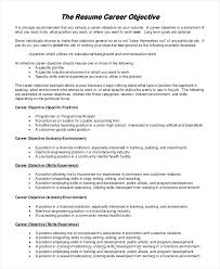 Sample Resume With Objectives 10 Objective For Resume Samples