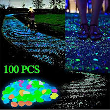 product images gallery generic 100 pcs glow in the dark garden pebbles