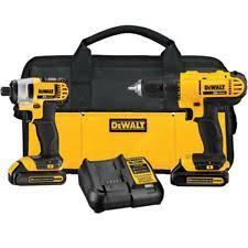 dewalt drill used. dewalt dck240c2 20-volt max lithium-ion cordless drill/driver and impact combo dewalt drill used l