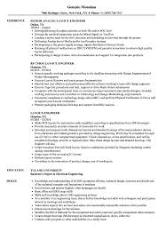 Resume Layout Layout Engineer Resume Samples Velvet Jobs 63