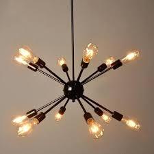 vintage bulb chandelier also industrial bulb chandelier in vintage loft style in black finish lights diy vintage bulb chandelier