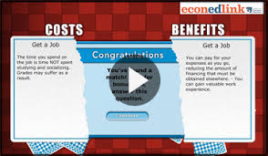 interactive tool you re going to college econedlink you re going to college