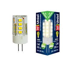 Светодиодная <b>лампа LED</b>-<b>JC</b>-<b>220</b>/<b>3W</b>/<b>3000K</b>/<b>G4</b>/<b>CL</b> GLZ09TR ...