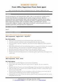 front desk agent resume sample front office supervisor resume samples qwikresume