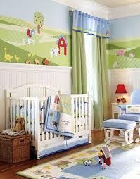i love the mural nursery baby room