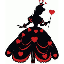 hearts silhouette silhouette design store view design 74191 queen of hearts