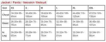 Peak Uk Size Chart Peak Neoskin 3 4 Wetsuit Strides Wetsuits Clothing