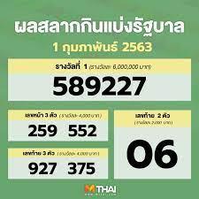 MThai - #ตรวจหวย 1 กุมภาพันธ์ 63 รางวัลที่ 1 ออก 589227...
