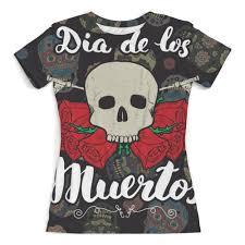 Футболка с полной запечаткой (женская) <b>Día</b> de Muertos #2319500