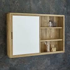 oak wall cabinet mirror bathroom