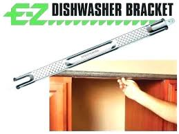 how to secure dishwasher under granite countertop attach dishwasher to
