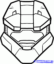 Small Picture Halo 4 Master Chief Coloring Pages