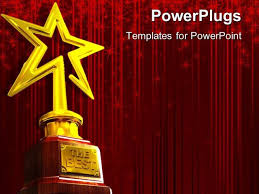 star ppt background awards presentation template powerpoint template red glowing curtain