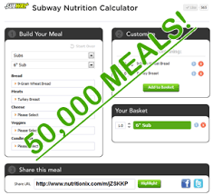 subway enthusiasts calculate over 50 000 nutritionix meals in january